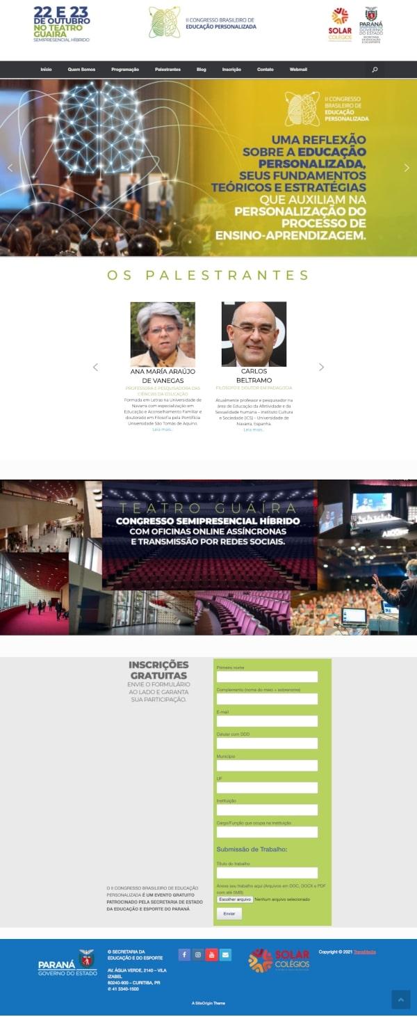II Congresso de Educação Personalizada